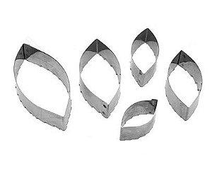 Cortadores Inox - Folhas / 5 Peças - 5P