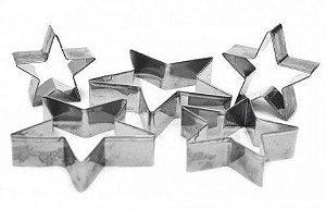 Cortadores Inox - Estrelas / 5 Peças - 5P