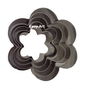 Cortadores Inox - Flores 5 Peças - 5P