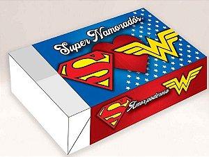 Caixa supernamorados /  06 Brigadeiros - 12x8x3,5