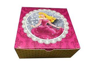 Caixa Princesa Bela Adormecida /  04 Brigadeiros - 18x8x3,5