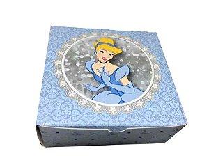 Caixa Princesa Cinderela /  04 Brigadeiros - 8x8x3,5