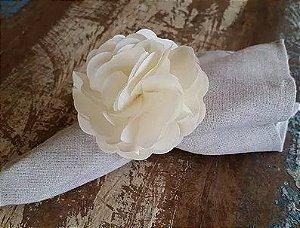 Porta Guardanapos / Flores de Tecido - Cravínia