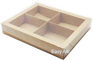 Caixas para Brownies / Biscoitos / Brigadeiros / Sabonetes - Kraft