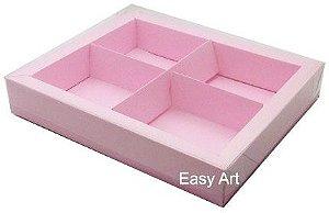 Caixas para Brownies / Biscoitos / Brigadeiros / Sabonetes - Rosa Claro