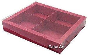 Caixas para Brownies / Biscoitos / Brigadeiros / Sabonetes - Vermelho