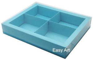 Caixas para Brownies / Biscoitos / Brigadeiros / Sabonetes - Azul Tiffany
