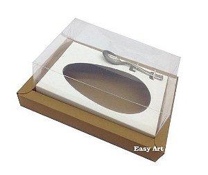 Caixa para Ovos de Colher 500g - kraft / Branco