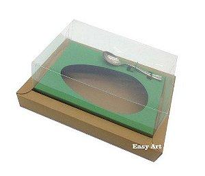 Caixa para Ovos de Colher 500g - Kraft / Verde Bandeira