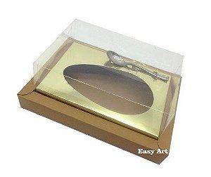 Caixa para Ovos de Colher 500g - Kraft / Dourado
