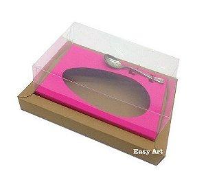 Caixa para Ovos de Colher 350g  - Kraft / Pink