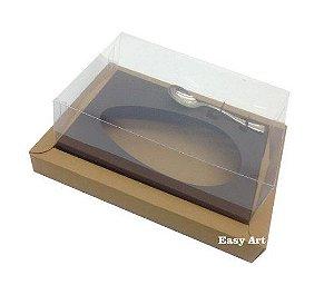 Caixa para Ovos de Colher 350g - Kraft / Marrom Chocolate