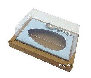 Caixa para Ovos de Colher 350g - Kraft / Azul Claro