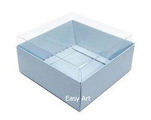 Caixa para 4 Brigadeiros - Base Alta / Azul Claro