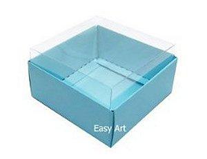 Caixa para 4 Brigadeiros - Base Alta / Azul Tiffany