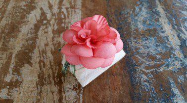 Mini Flores para Bem Casados / Tecido - Gardênia