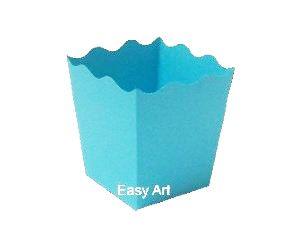 Cachepô / Caixa para Pipoca - Azul Tiffany