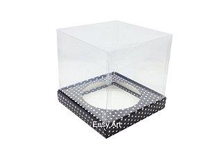 Caixa para Mini Panetones - Preto com Poás Brancas