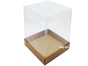 Caixa para Mini Bolo / Panetones 15x15x20 - Marrom Claro
