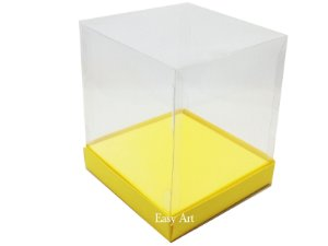 Caixinhas para Mini Bolos / Mini Panetones com Berço - Amarelo