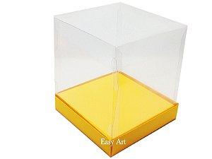 Caixinhas para Mini Bolos / Mini Panetones com Berço - Laranja Claro