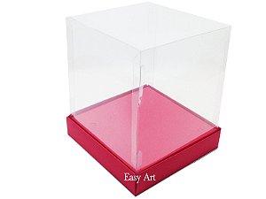 Caixinhas para Mini Bolos / Mini Panetones com Berço - Vermelho