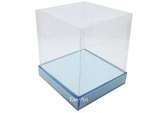 Caixinhas para Mini Bolos / Mini Panetones com Berço - Azul Claro