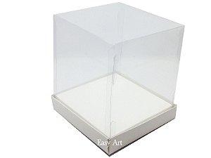 Caixinhas para Mini Bolos / Mini Panetones com Berço - Branco