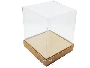 Caixinhas para Mini Bolos / Mini Panetones com Berço - Kraft