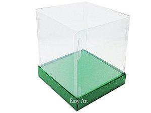 Caixinhas para Mini Bolos / Mini Panetones com Berço - Verde Bandeira