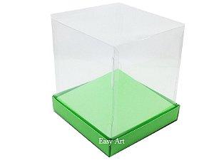 Caixinhas para Mini Bolos / Mini Panetones com Berço - Verde Pistache