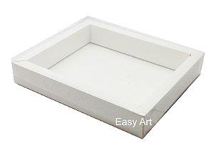 Caixas para 12 Macarons Deitados / Borda Larga - Branco