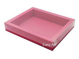 Caixas para 12 Macarons Deitados / Borda Larga - Vermelho