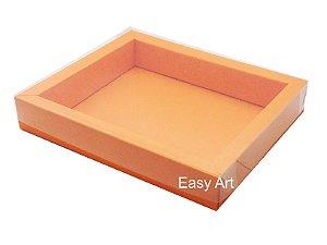 Caixas para 12 Macarons Deitados / Borda Larga - Laranja