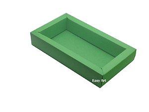 Caixa para 8 Macarons Deitados / Tampa Transparente - Verde Pistache