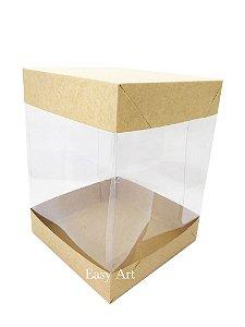 Caixa para Panetones e Mini Bolos / Tampa Dupla - Kraft