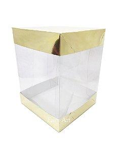 Caixa para Panetones e Mini Bolos / Tampa Dupla - Dourado