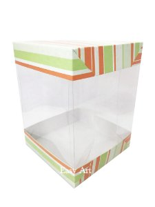Caixa para Panetones e Mini Bolos / Tampa Dupla - Listrado