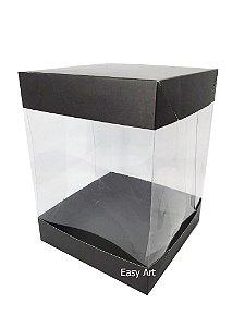 Caixa para Panetones e Mini Bolos / Tampa Dupla - Preto Fosco