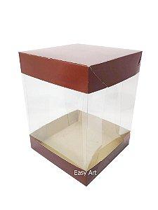 Caixa para Panetones e Mini Bolos / Tampa Dupla - Marrom Café
