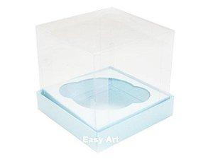 Caixas para 1 Mini Cupcake - Azul Claro