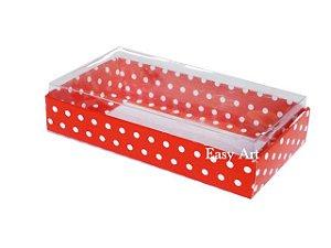 Caixinha para 1 Sabonete / Bijuterias - Vermelho com Poás Brancas