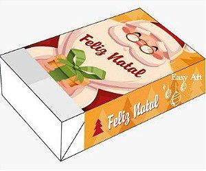 Caixa para 6 brigadeiros - Papai Noel Feliz Natal