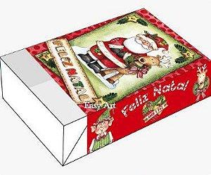 Caixa para 6 Brigadeiros - Noel e Rena