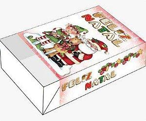Caixa para 6 Brigadeiros - Noel e Duende
