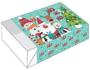 Caixa para 6 Brigadeiros - Turminha Feliz Natal