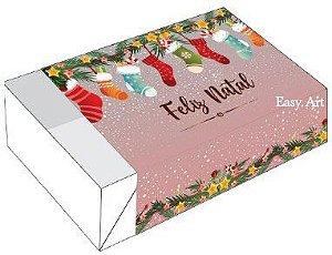 Caixa para 6 Brigadeiros - Meias de Natal