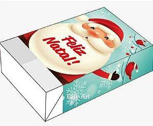 Caixa para 6 Brigadeiros - Natal Noel e Passarinhos