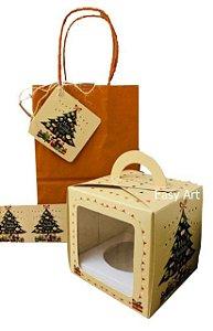 Kit para Mini Panetone - Árvore de Natal