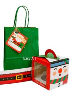 Kit para Mini Panetone - Trio Natal